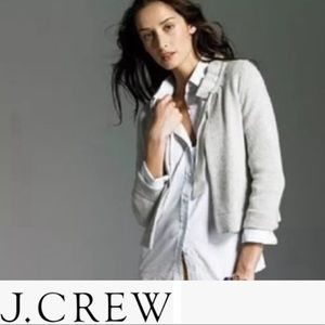 J. Crew Cashmere Blend Sweater Neck Tie Taupe XX